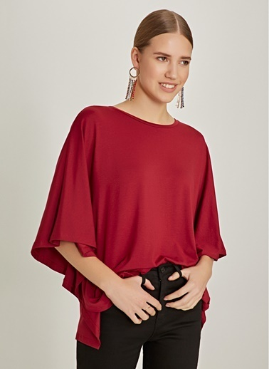 NGSTYLE Oversize Bluz Bordo